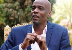 Haiti's President Jovenel Moise speaks with Reuters, in Port-au-Prince